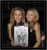 Karikatury - houslové duo Feme Fatale