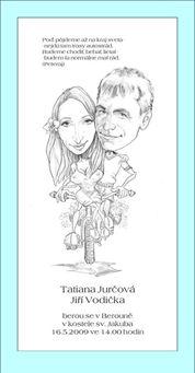 svatební karikatura